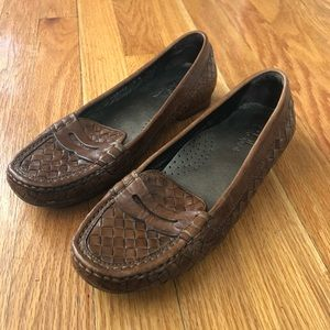 Cole Haan | Leather Basket Weave Penny Loafers